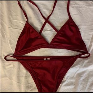 Fashionova red bathing suit